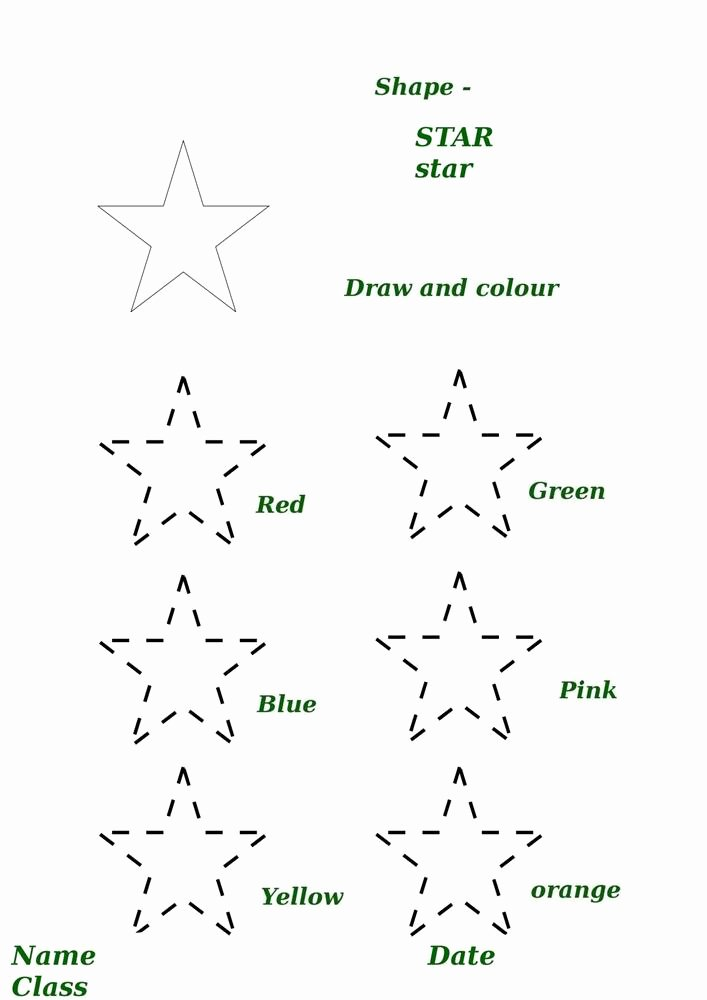 Star Worksheets for Preschoolers Best Of Shape Activity Worksheet Star