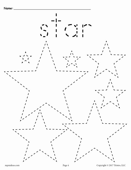 Star Worksheets for Preschoolers Fresh 12 Shapes Tracing Worksheets