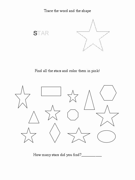 Star Worksheets for Preschoolers Lovely Free Star Worksheet