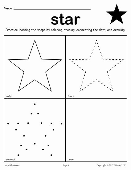 Star Worksheets for Preschoolers top Free Star Worksheet for toddlers Preschoolers and