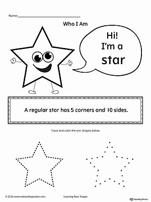 Star Worksheets for Preschoolers Unique Learning Basic Geometric Shape Star
