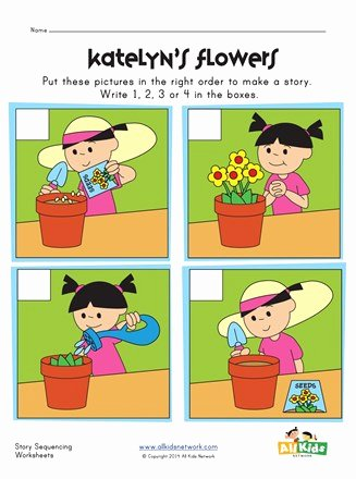 Story Sequencing Worksheets for Preschoolers Best Of Sequencing Worksheet Flowers