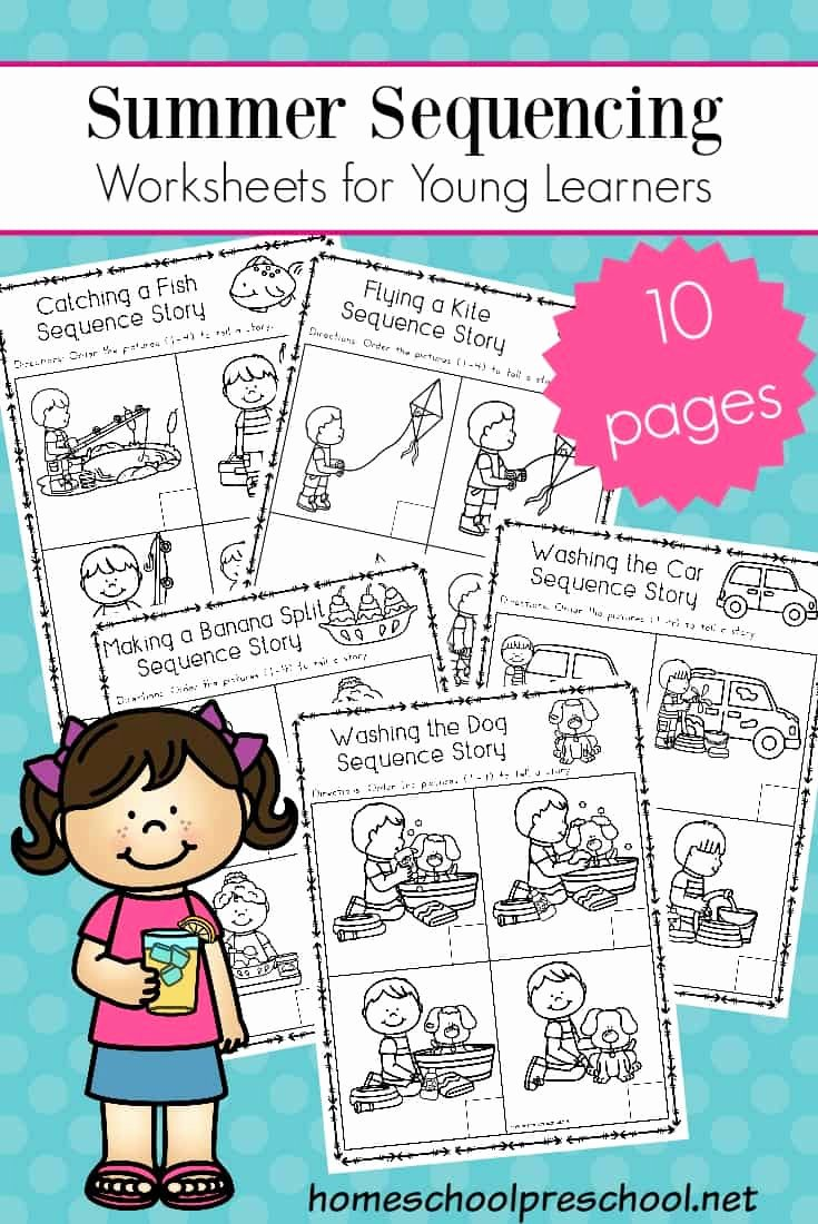 Story Sequencing Worksheets for Preschoolers Fresh Free Sequencing Worksheets for Summer Learning