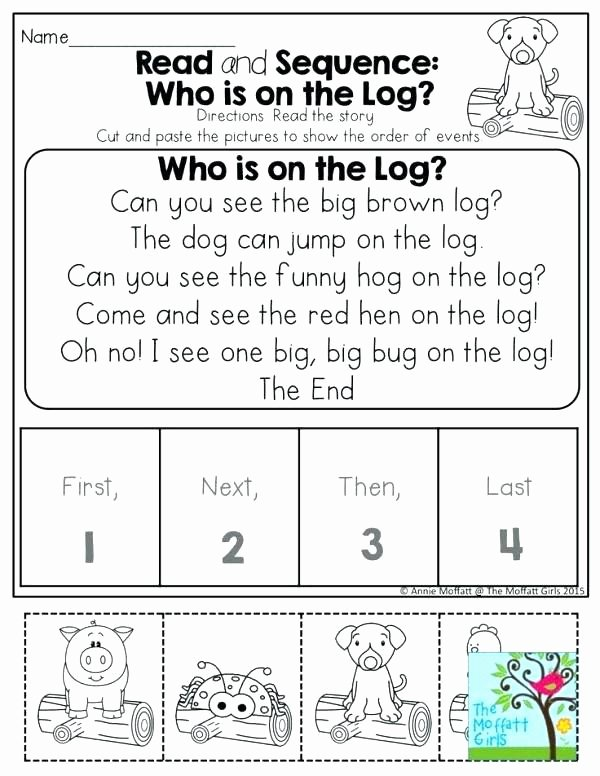 Story Sequencing Worksheets for Preschoolers Inspirational 20 Sequencing Worksheets for Kindergarten