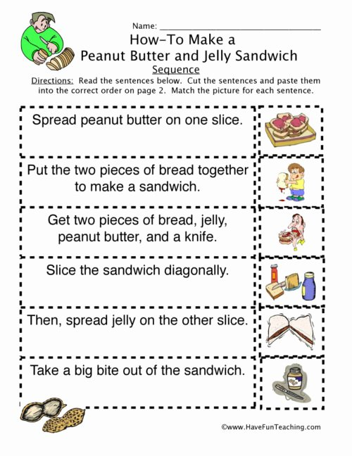 Story Sequencing Worksheets for Preschoolers Inspirational Sequencing Worksheets Have Fun Teaching Skills to Peanut