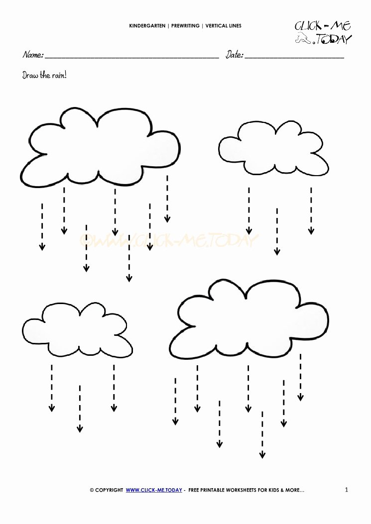 Straight Line Worksheets for Preschoolers Beautiful Vertical Lines Worksheet 1