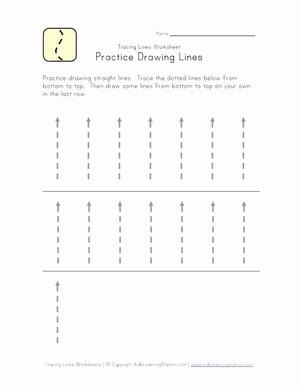 Straight Line Worksheets for Preschoolers Inspirational Traceable Lines Worksheet Bottom to top