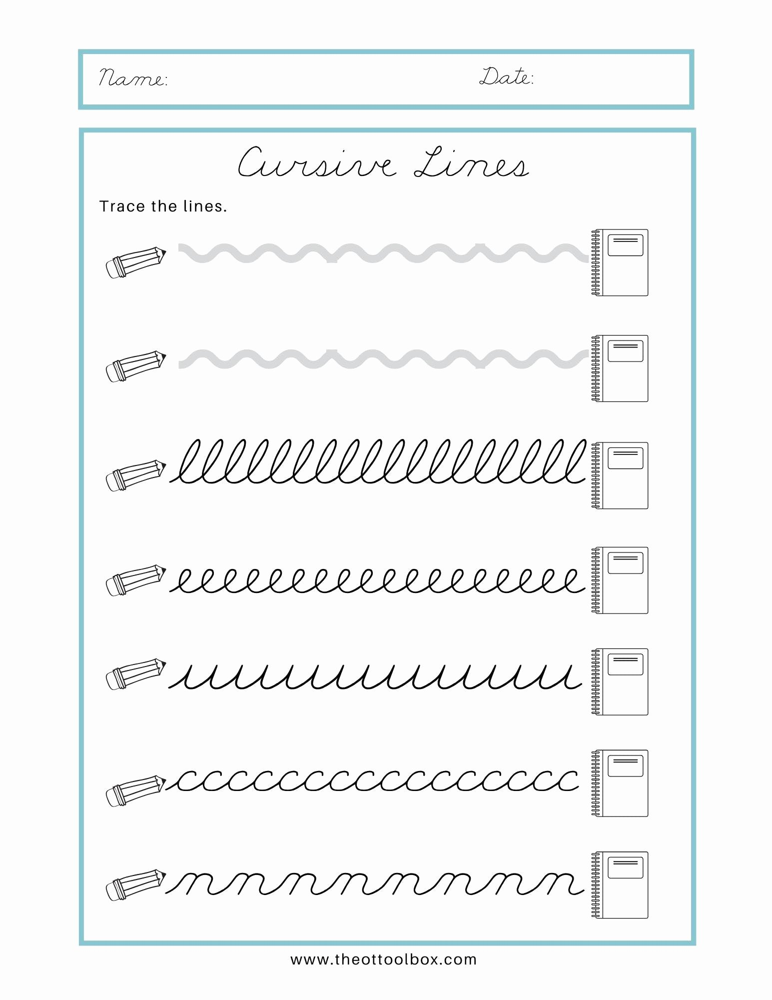 Strokes Worksheets for Preschoolers Beautiful Math Worksheet Free Cursive Name Tracingorksheets