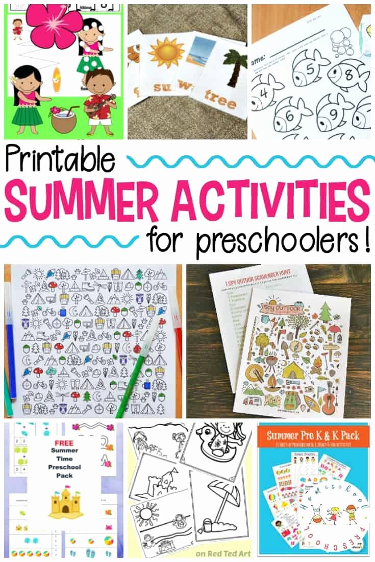Summer Activities Worksheets for Preschoolers Beautiful Worksheet Worksheet Preschool Activity Books Printable