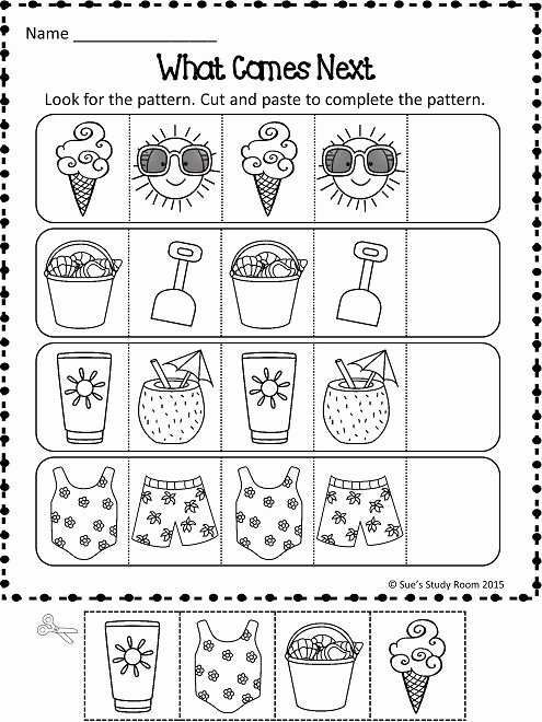 Summer Activities Worksheets for Preschoolers Inspirational Patterns Summer Patterns Worksheets