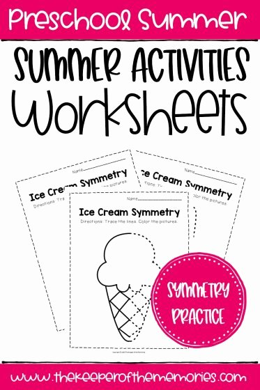 Summer Activities Worksheets for Preschoolers Lovely Free Printable Summer Activities Worksheets the Keeper Of