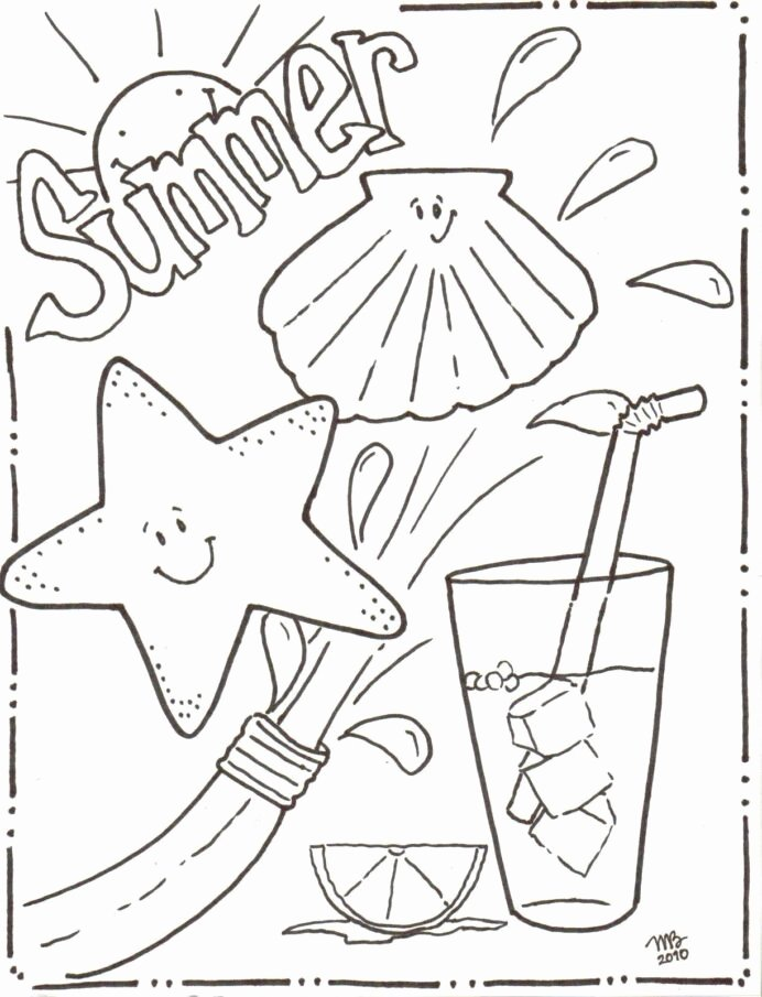Summer Activities Worksheets for Preschoolers Unique Coloring Book to Print Summer for Kids Simple Numbers