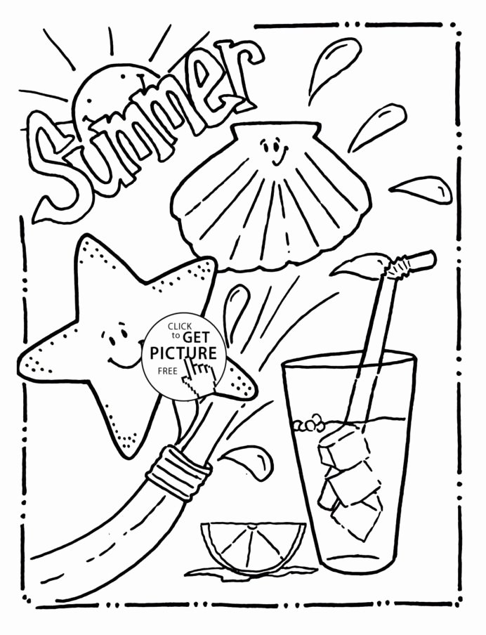 Summer Fun Worksheets for Preschoolers Awesome Coloring Funng Worksheets for Kindergarten Summer Free