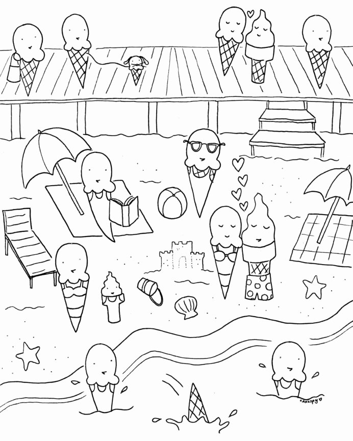 Summer Fun Worksheets for Preschoolers Best Of Free Downloadable Summer Fun Coloring Book 4th Grade Math
