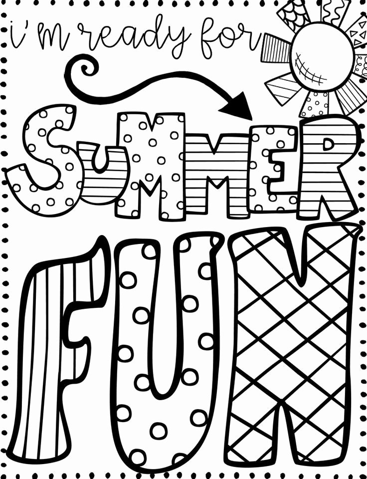 Summer Fun Worksheets for Preschoolers Inspirational Summer Coloring for Kids Print them All Free Fun Games Grade