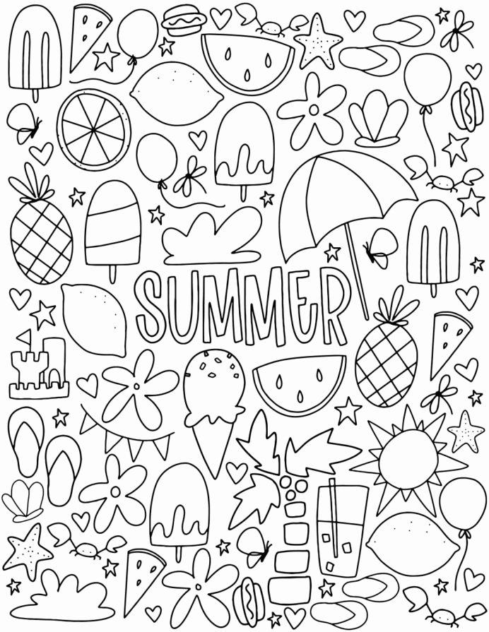 Summer Fun Worksheets For Preschoolers Awesome Coloring Funng Worksheets  For Kindergarten Summer Free – Printable Worksheets For Kids