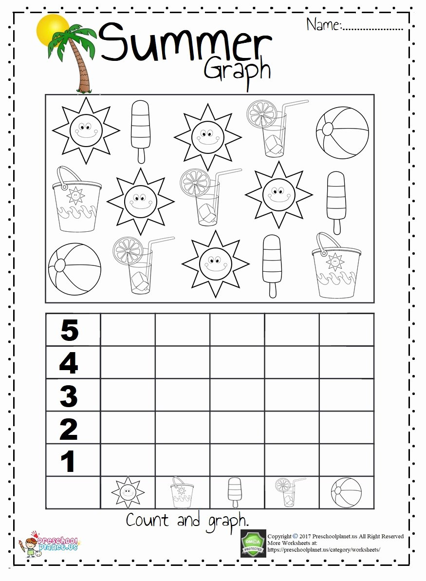 Summer Worksheets for Preschoolers Beautiful Summer Graph Worksheet – Preschoolplanet