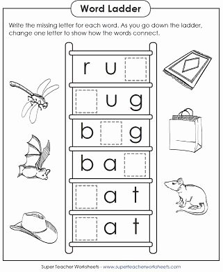 Super Teacher Worksheets for Preschoolers Awesome Word Ladder Worksheets
