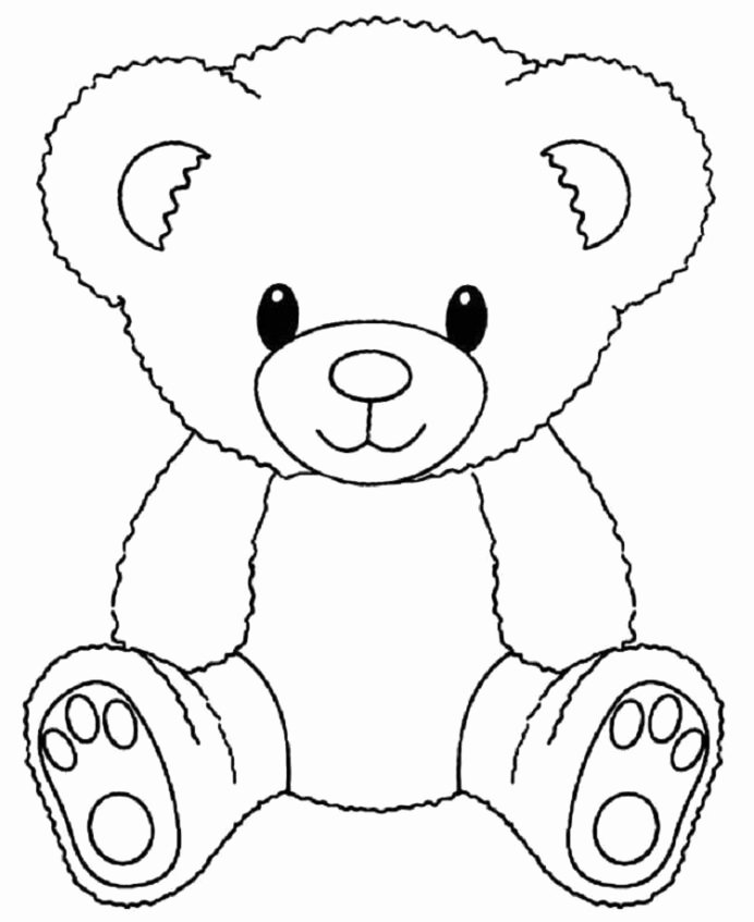 Teddy Bear Worksheets for Preschoolers Awesome Cute Bear Coloring In Teddy Bears Christmas Holiday