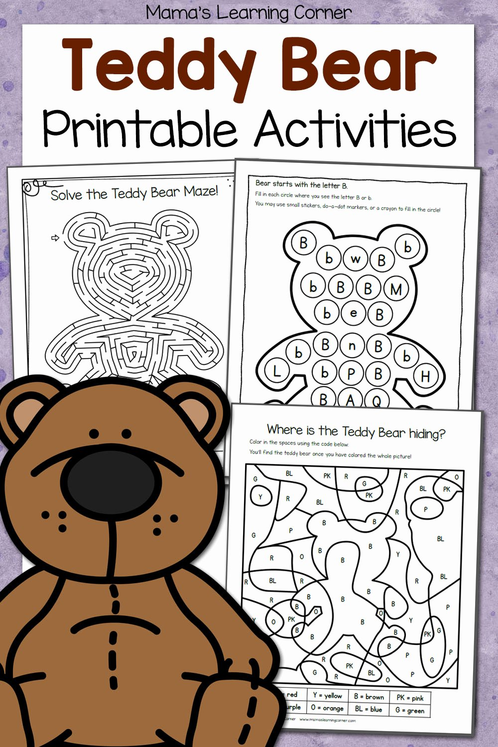 Teddy Bear Worksheets for Preschoolers Awesome Teddy Bear Activities Printable Packet Mamas Learning Corner