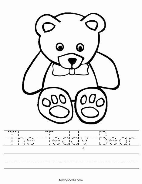 Teddy Bear Worksheets for Preschoolers Beautiful the Teddy Bear Worksheet