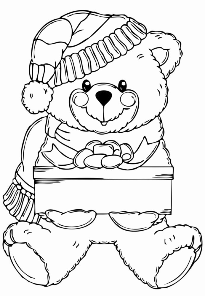 Teddy Bear Worksheets for Preschoolers Fresh Surprising Ideas Christmas Bear Coloring Clipart Teddy