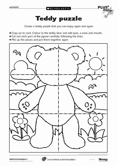 Teddy Bear Worksheets for Preschoolers New Free Teddy Bears Ables From Scholastics Thanks