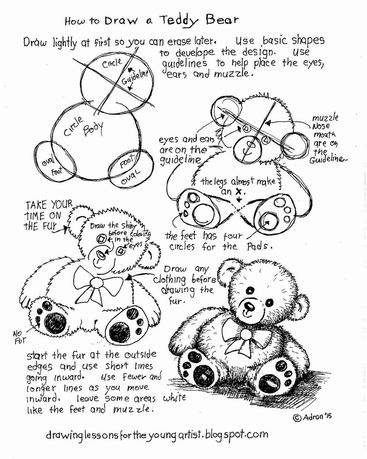 Teddy Bear Worksheets for Preschoolers top to Draw Teddy Bear Free Printable Worksheet Art Worksheets