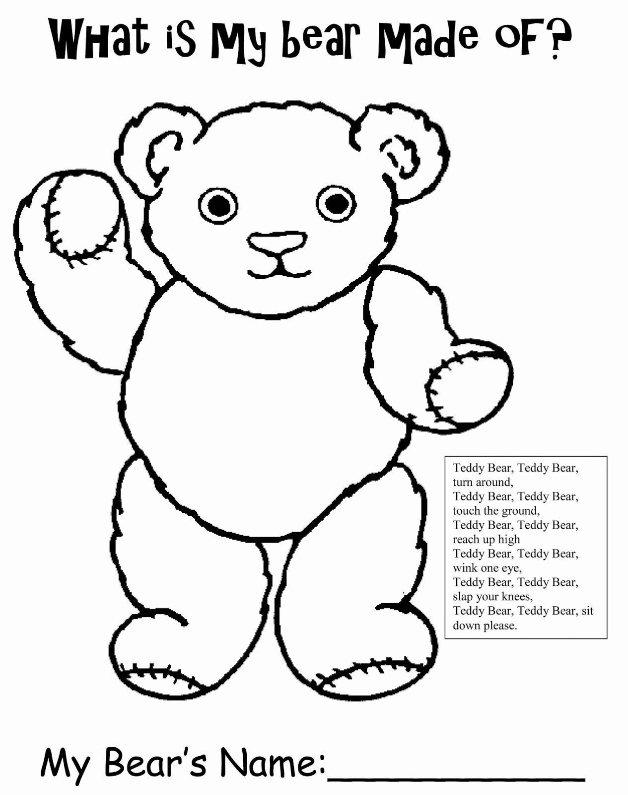 Teddy Bear Worksheets for Preschoolers Unique Inspiration organization