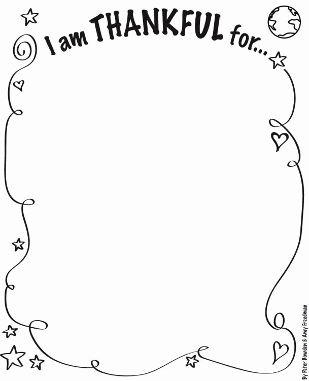 "Thankful Worksheets for Preschoolers Best Of I Am Thankful for"" Activity Sheet"