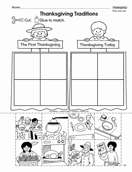 Thankful Worksheets for Preschoolers Inspirational Thanksgiving Worksheet then and now the Mailbox