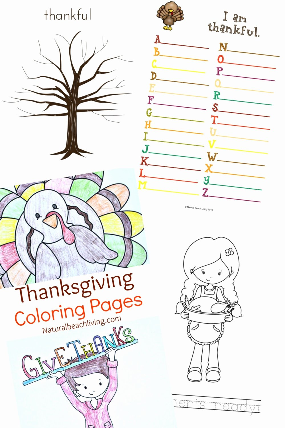 Thankful Worksheets for Preschoolers New Thanksgiving Printables for Kids Natural Beach Living