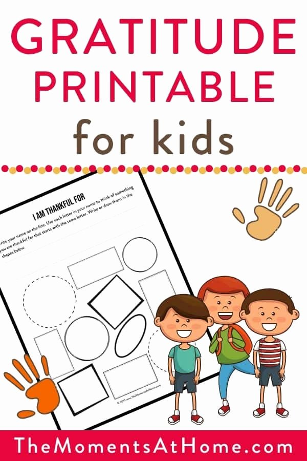 Thankful Worksheets for Preschoolers Unique Gratitude Activity for Kids with Printable Worksheet the