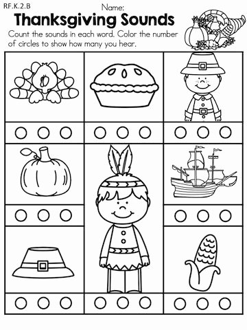 Thanksgiving Worksheets for Preschoolers Awesome Thanksgiving Literacy Activities Kindergarten