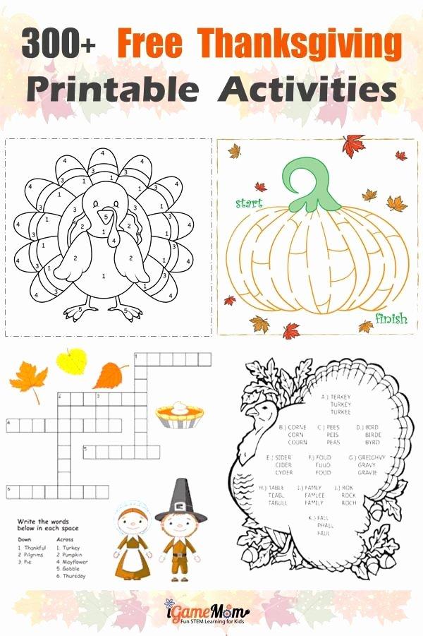 Thanksgiving Worksheets for Preschoolers Fresh Free Thanksgiving Printables for Learning Worksheets