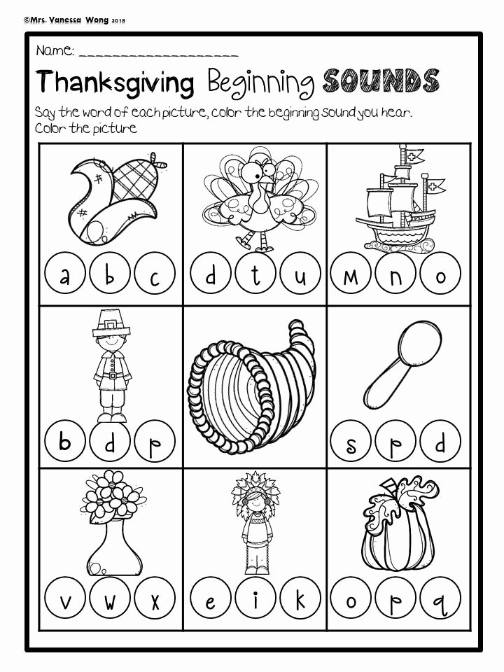 Thanksgiving Worksheets for Preschoolers Inspirational Thanksgiving Worksheets for Kindergarten A Great Variety Of