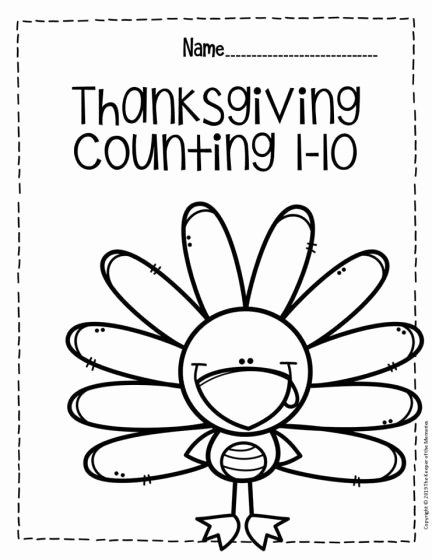 Thanksgiving Worksheets for Preschoolers Unique Free Printable Thanksgiving Numbers Preschool Worksheets for