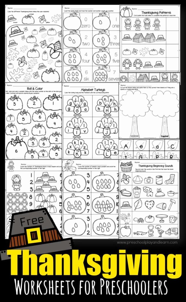 Thanksgiving Worksheets for Preschoolers Unique Thanksgiving Worksheets for Preschoolers