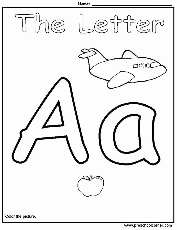 The Alphabet Worksheets for Preschoolers Lovely Coloring Letter Ideas Kindergarten Alphabet Worksheets