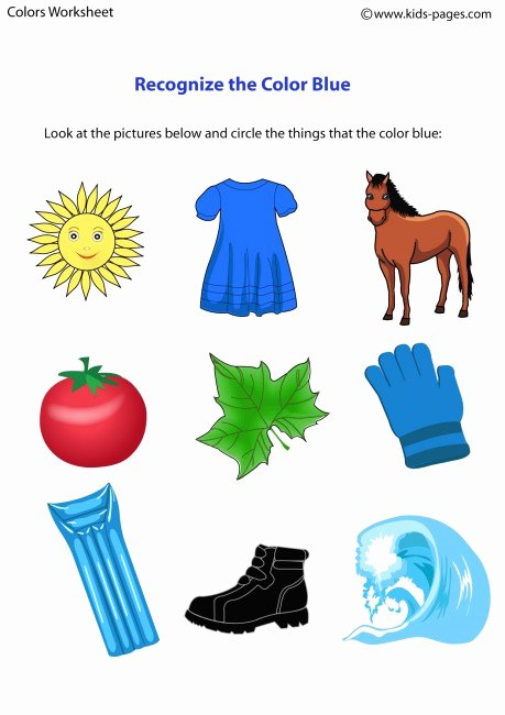 The Color Blue Worksheets for Preschoolers Inspirational Color Blue Worksheet