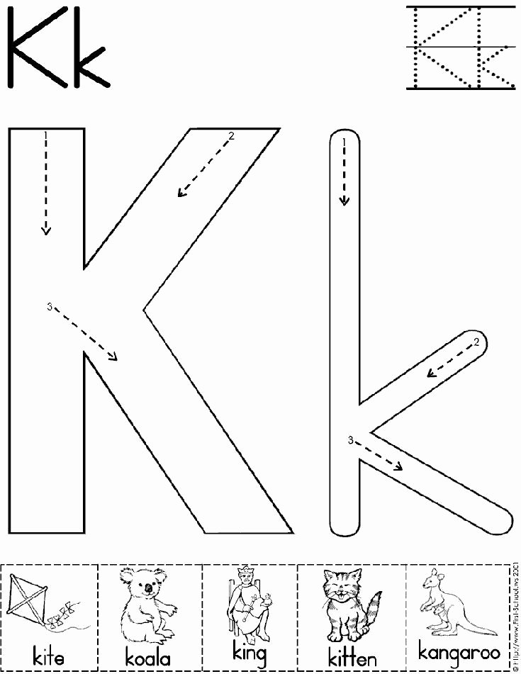 The Letter K Worksheets for Preschoolers Awesome Alphabet Letter K Worksheet