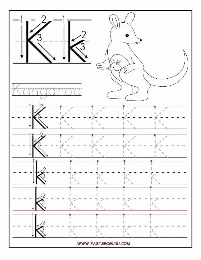 The Letter K Worksheets for Preschoolers Best Of Trace and Write the Letter K Worksheets