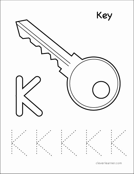 The Letter K Worksheets for Preschoolers New Letter K Writing and Coloring Sheet