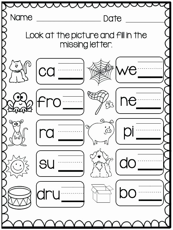 Three Letter Words Worksheets for Preschoolers Beautiful Missing Letters Worksheets for Kindergarten Three Letter