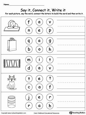 Three Letter Words Worksheets for Preschoolers Best Of Spelling and Reading Three Letter Words 3 Letter Words