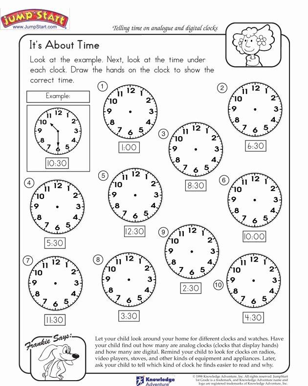 Time Worksheets for Preschoolers Fresh Pin On Js Math Worksheets