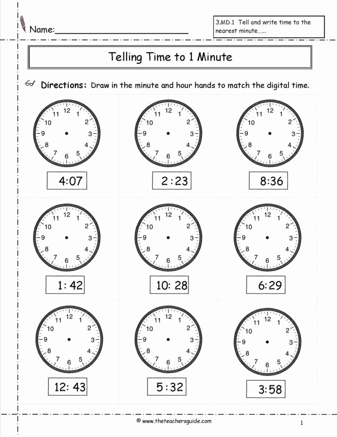 Time Worksheets for Preschoolers Lovely Telling Time Worksheets Hour Printable and Activities Clock