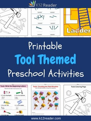 Tools Worksheets for Preschoolers Awesome tools Preschool theme Activities