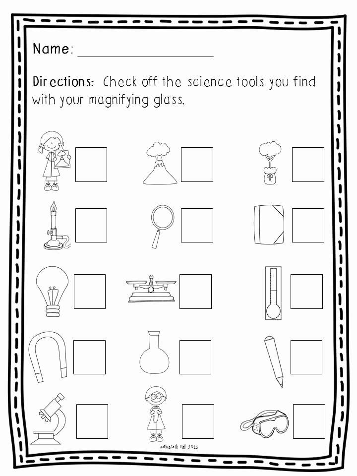 Tools Worksheets for Preschoolers Unique Science tools Freebie