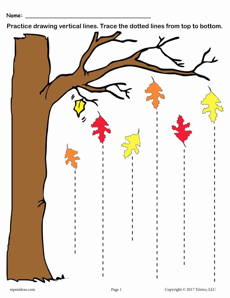 Trace the Lines Worksheets for Preschoolers Best Of Printable Fall Line Tracing Worksheets